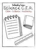 Claim Evidence Reasoning Template: Graphic Organizer, Scie