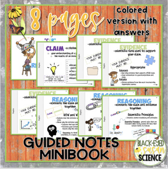 Claim, Evidence, Reasoning (CER)--Guided Notes MiniBook NGSS
