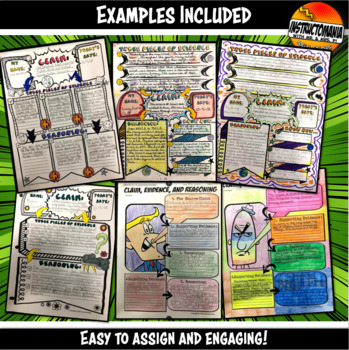 Claim Evidence Reasoning History Doodle Notes Instruction & Graphic Organizers