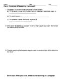 Claim, Evidence, Reasoning Homework