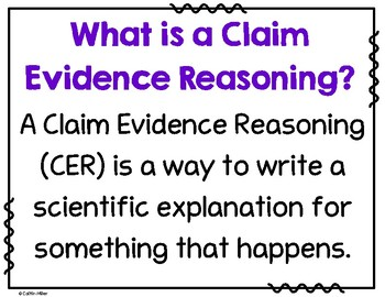 Claim Evidence Reasoning Interactive Bulletin Board and Sort