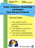 Claim Evidence Reasoning Lab Report Peer Review