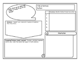 Claim, Evidence, Reasoning One Pager Graphic Organizer