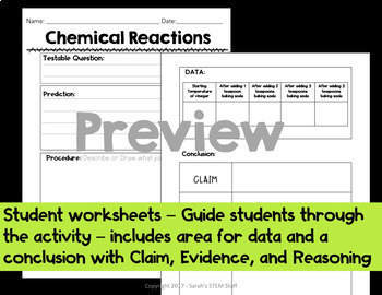 Claim Evidence Reasoning - Physical Science Bundle - Scientific Arguments