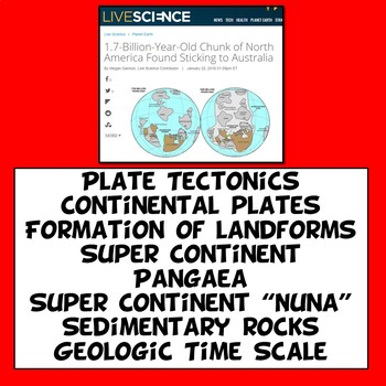 Claim Evidence Reasoning Plate Tectonics Pangaea Article and Graphic Organizer