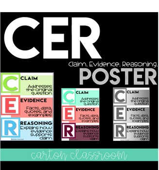 Claim Evidence Reasoning Poster CER