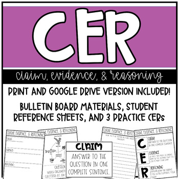 CER (Claim, Evidence, Reasoning) Practice