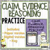 Claim, Evidence, Reasoning (CER) Practice  {Includes Digital Version}