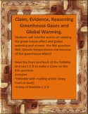 Claim, Evidence, Reasoning Relating Greenhouse Effect to Global Warming