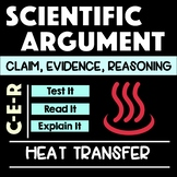Heat Transfer Scientific Argument with Claim Evidence Reasoning MS-PS3-4