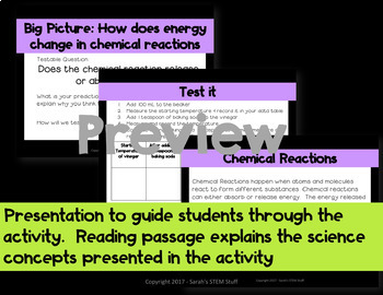 Claim, Evidence, Reasoning: Scientific Arguments: Chemical Reactions