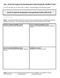 Claim - Evidence - Reasoning Task:  Genetically Modified Foods