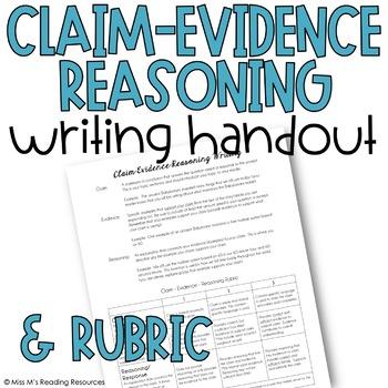 Claim Evidence Reasoning Writing Handout