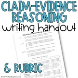 Claim Evidence Reasoning Writing Handout