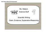 Claim, Evidence, Reasoning in Scientific Writing (Editable)