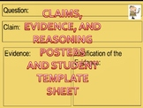Claim Evidence Reasoning Poster and Student Template