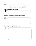 Claim Evidence and Reasoning Template