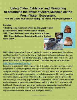 Claim, Evidence, and Reasoning: the Effect of Zebra Mussels in Ecosystems