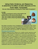 Claim, Evidence, and Reasoning: the Effect of Zebra Mussel