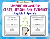 English and Spanish Claim, Reason, and Evidence Graphic Or