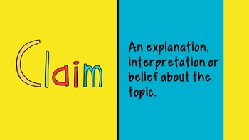 Claim-Support-Question Example for Use with Students