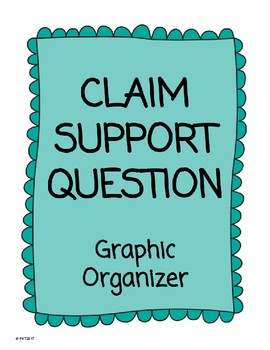 Claim Support Question Graphic Organizer ** Making Thinking Visible Aligned **
