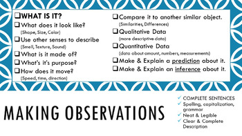 Claim Writing & Scientific Observation Posters