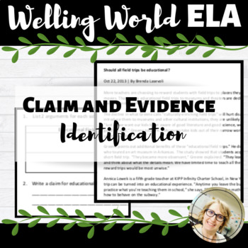 Claim and Evidence Identification Practice