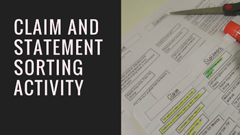 Claim and Statement Sorting Activity