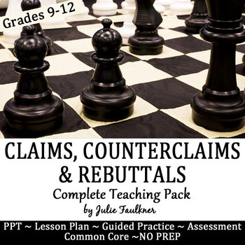 Claims, Counterclaims, Rebuttals Lesson, Complete Teaching Pack