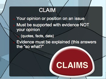 Claims, Counterclaims, and Rebuttal PowerPoint