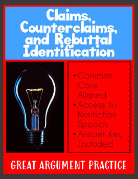 Identifying Claims, Evidence, Counterclaims, and Rebuttal