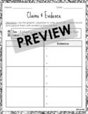 Claims & Evidence (Graphic Organizer) *Digital/Printable V