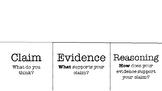 Claims, Evidence, Reason Flip Book (CER)