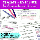 Claims + Evidence Activities in Argumentative Writing