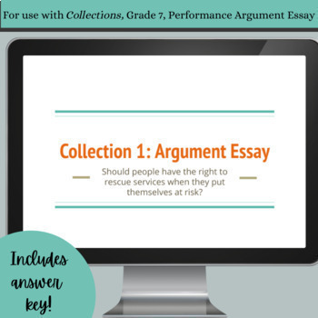 Claims, Reasons, and Evidence with HMH Collections' Rescue Worker Essay