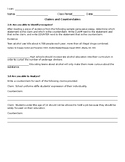 Claims and Counterclaims Pre-Assessment