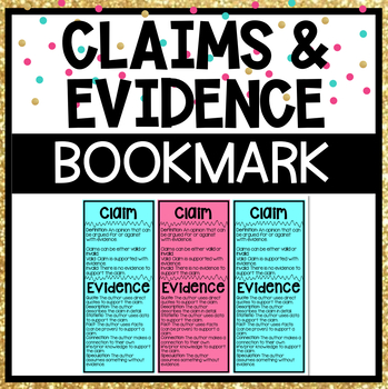 Claims and Evidence Bookmark