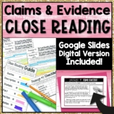 Claims and Evidence Close Reading   Google Slides