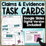 Claims and Evidence Task Cards   Google Slides