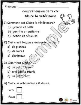 Claire la vétérinaire