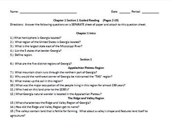 Clairmont Press - Georgia - Chapter 1 Section 1 Teacher Cr