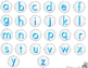 Clam Shell Match:  Uppercase and Lowercase Letters, Initial Sounds