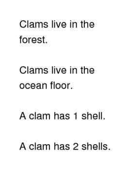 Clams True/False