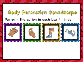 Clap, Click, Pat, Stamp! Body Percussion Composition Activity for Young Learners