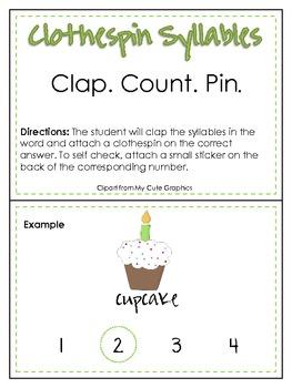 Clap. Count. Pin. Syllable Center