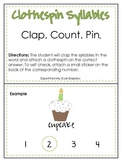 Clap. Count. Pin. Syllable Center