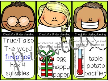Clap It Out {A Syllables Mini Pack}