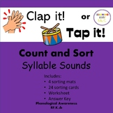 Clap It or Tap It Syllable Count and Sort