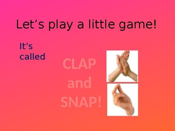 Clap and snap: Vocabulary reviewing game